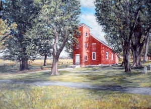 Painting of Stone's Chapel by artist Rita King