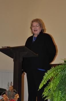 Betty speaking