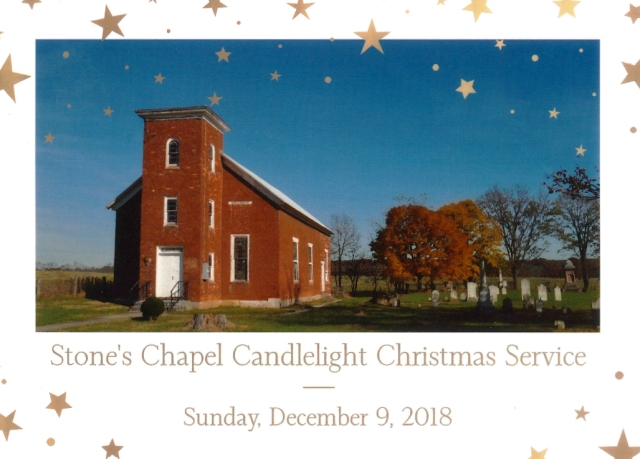 Stones Chapel Christmas invite